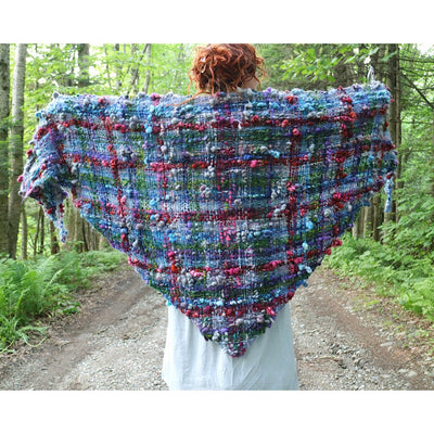 Giant plaid Shawl