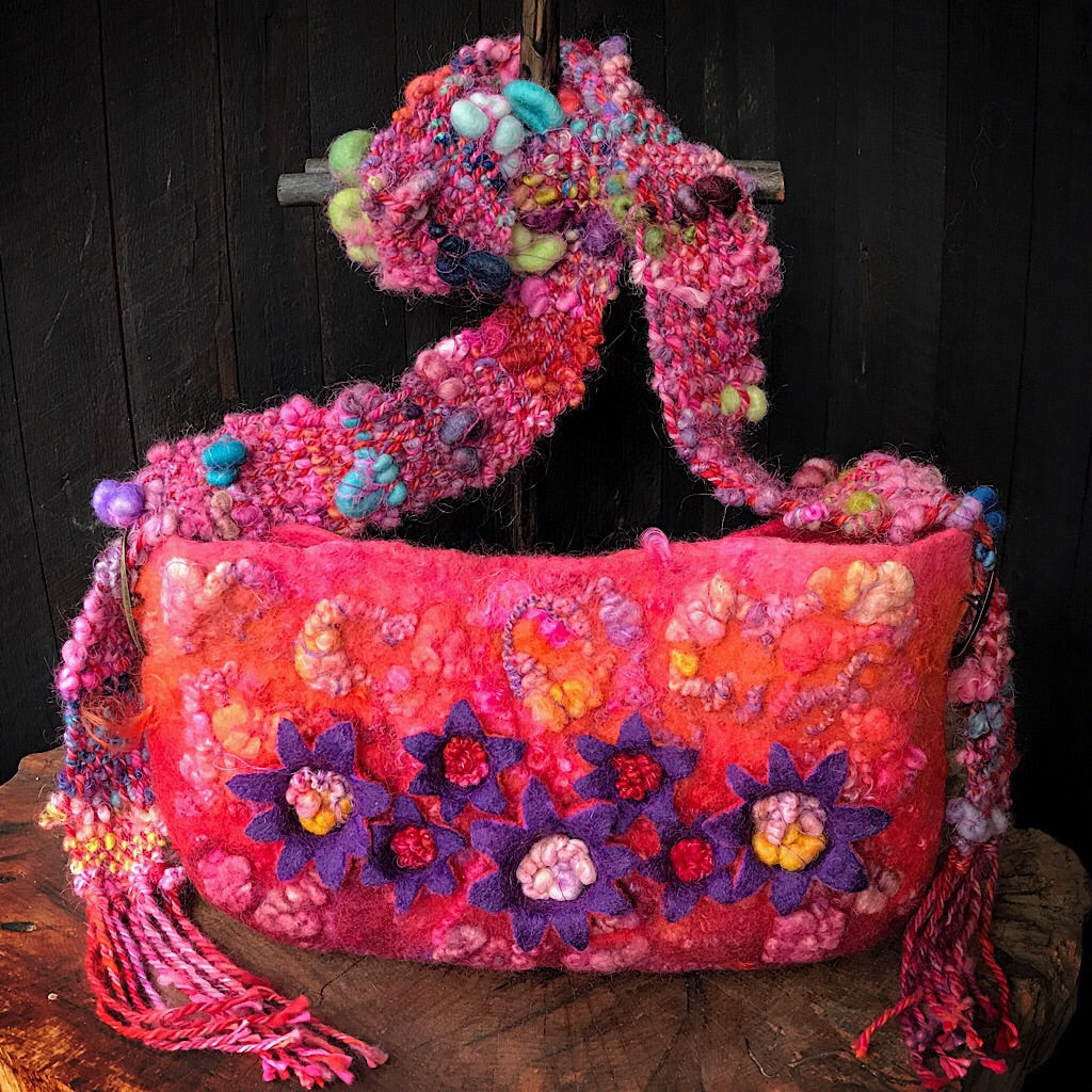 Felted handbag
