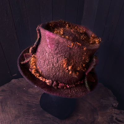 Legend of fall Felted hat 2