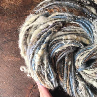 Blue grey art yarn 100g 63y - Mynoush