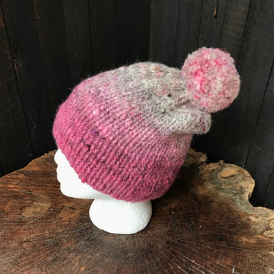 Pink beanie 100% wool  | Tuque rose 100% laine - Mynoush