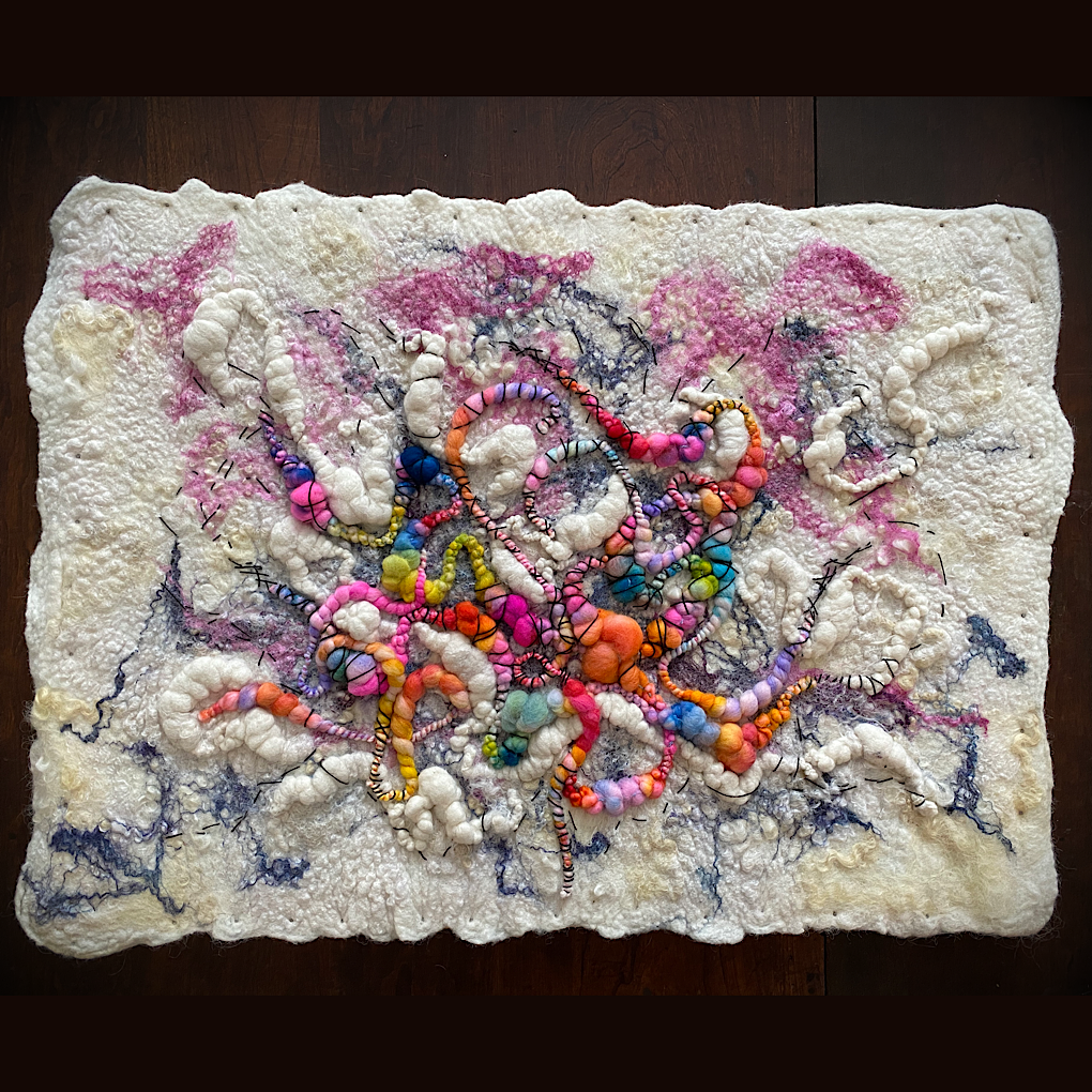 "Wool felt wall art 24"" X 18"""
