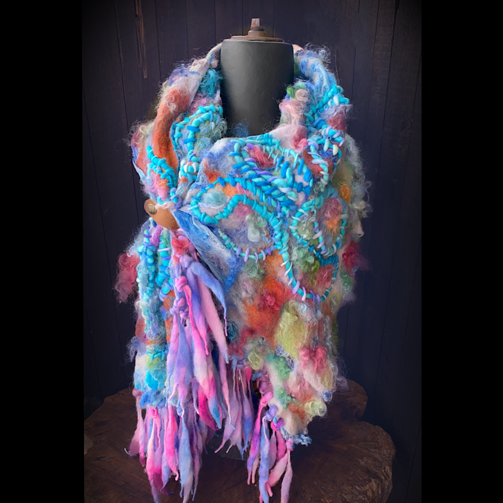 Rainbow Silk shawl