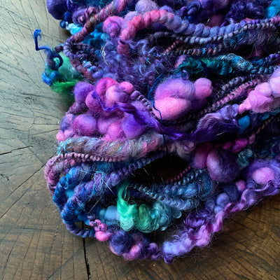 One spell only - Silk and sparkles art yarn