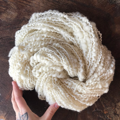 White spiral yarn 130g - Mynoush