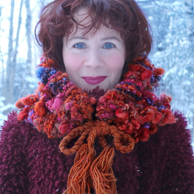 Orange cowl Col orange - Mynoush