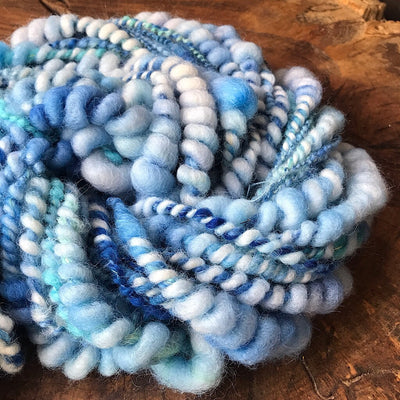 Blue hand spun yarn