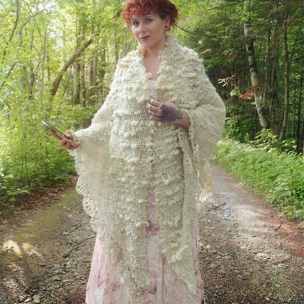 Wool wedding shawl