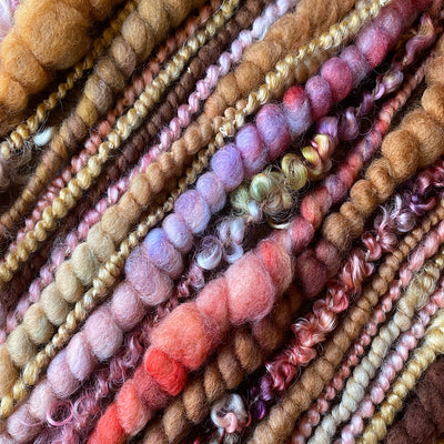 Antique doll Art yarn