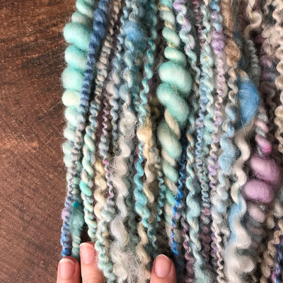 Pastel Blue art yarn 100g - Mynoush