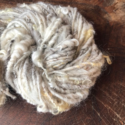 Natural white textured wool yarn 84 grams - Mynoush