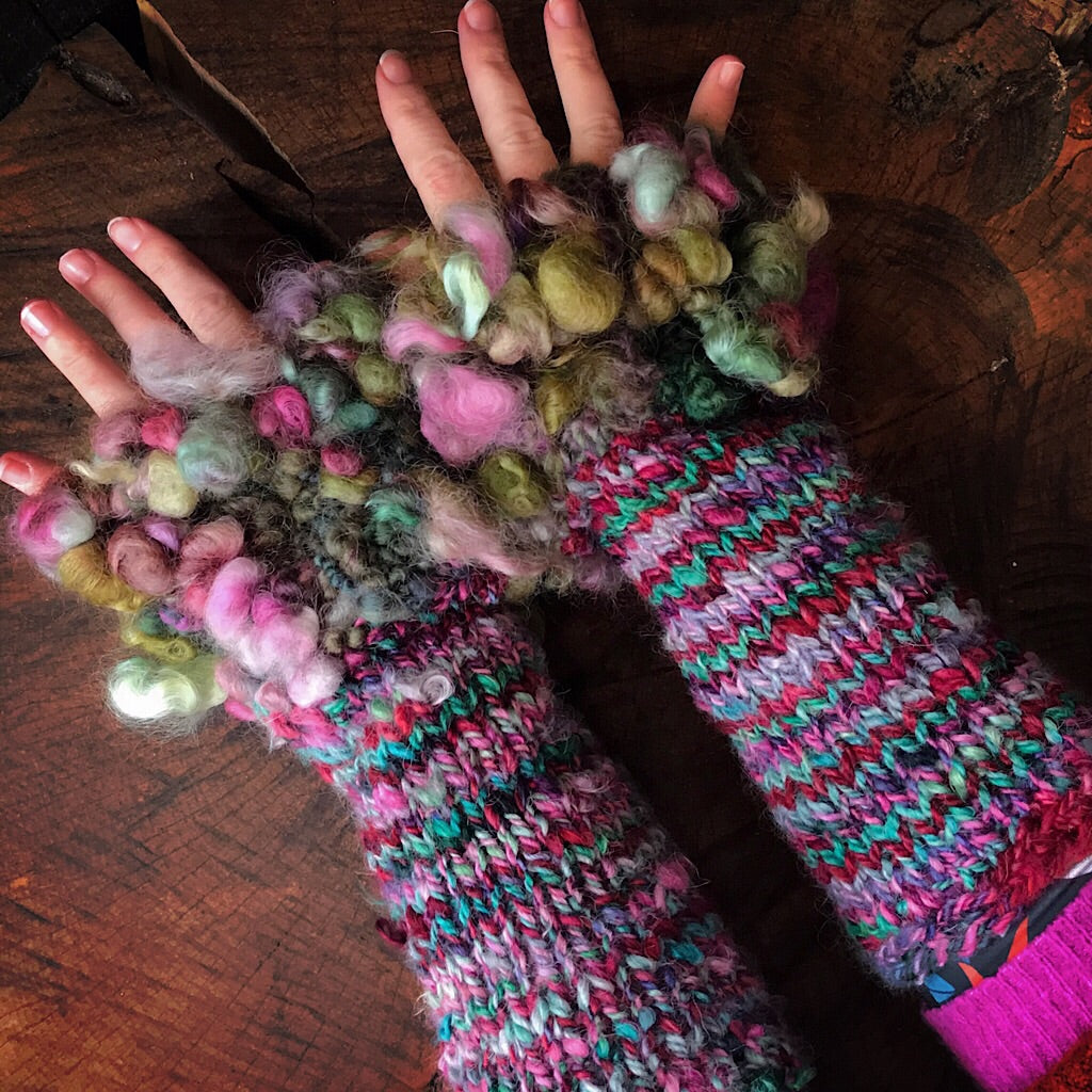 Alpaca arm warmers