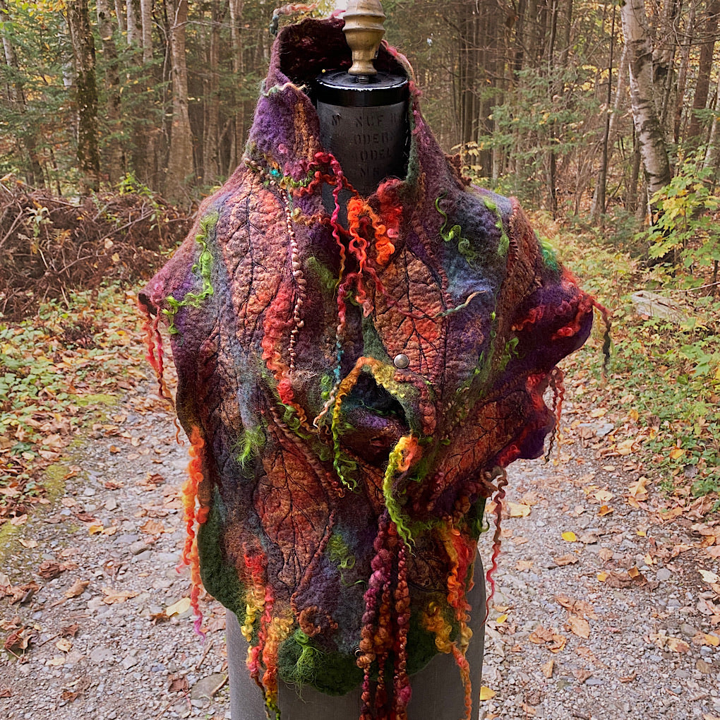 Legend of Fall Felted scarf