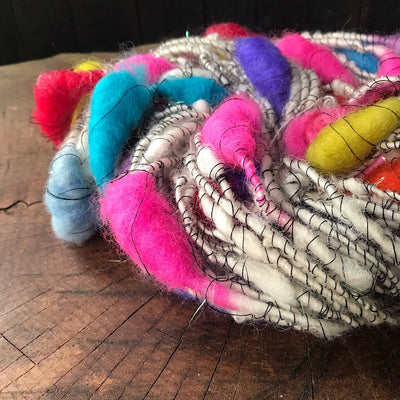 Rainbow cocoons Art yarn