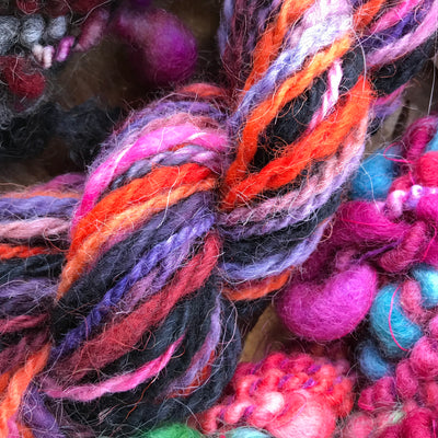 Hand spun yarn kit - wool yarn trio 120 grams - Mynoush