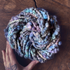 Night blue art yarn Celine
