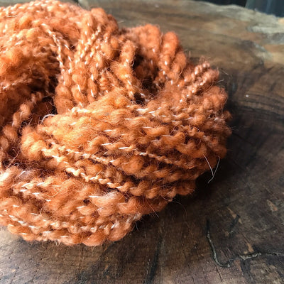 Pumpkin weaving yarn