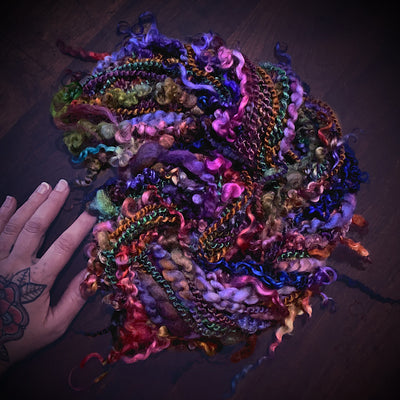 Passionate One-of-a-kind Silk art yarn
