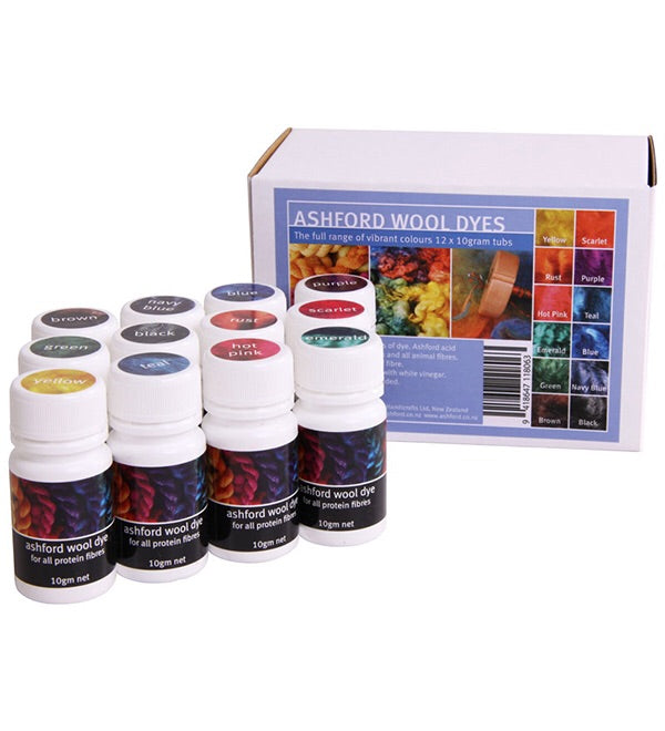 Ashford 12 colours Dye kit | Kit de teinture 12 couleurs Ashford - Mynoush