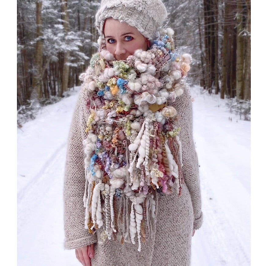 The Snow Rose scarf