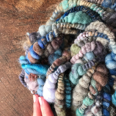 Blue  art yarn 100g - Mynoush