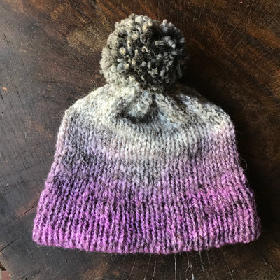 Purple  beanie 100% wool One size | Tuque mauve 100% laine - Mynoush