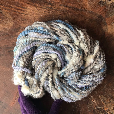 Blue grey art yarn 100g 44y - Mynoush