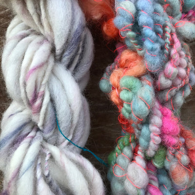 Lavender hand spun yarn duo 90 grams - Mynoush