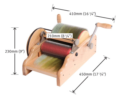 Ashford's Drum Carder | 72 PPSI ou Super fine 120 PPSI | Cardeur à rouleau Ashford 72 PPSI ou Super fin 120 PPSI - Mynoush