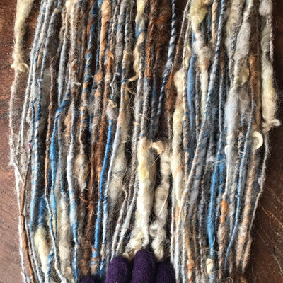 Blue grey art yarn 100g 55y - Mynoush