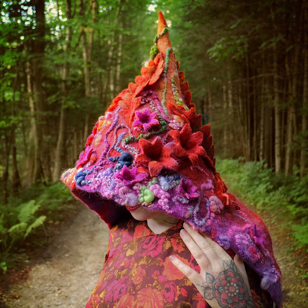 Fairy felted hood