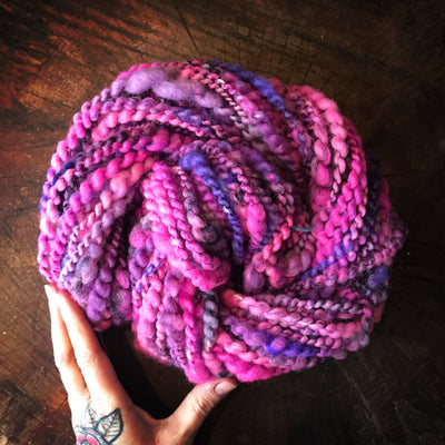 Purple art yarn 100g - Mynoush