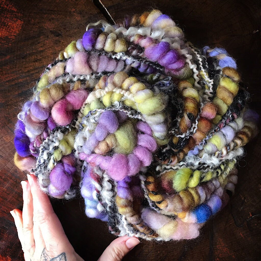 Winter orchid Art yarn