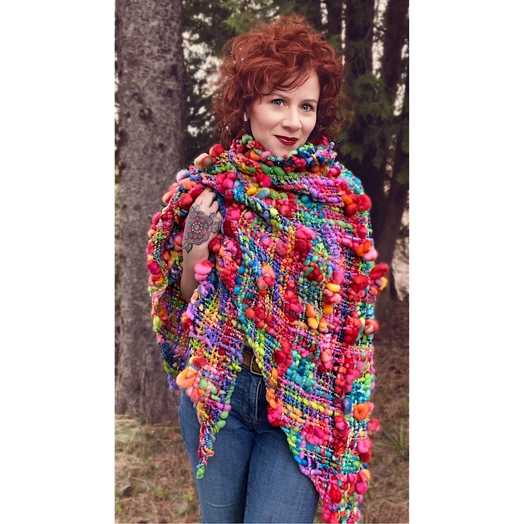 Over the Rainbow shawl