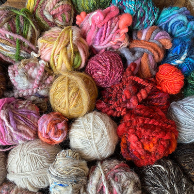 Clearance of hand spun yarns 2 pounds!