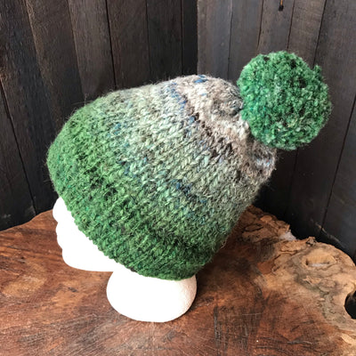 Green  beanie 100% wool Tuque verte laine - Mynoush