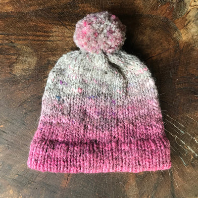 Bonnet rose 100% laine | Tuque Rose 100% laine - Mynoush