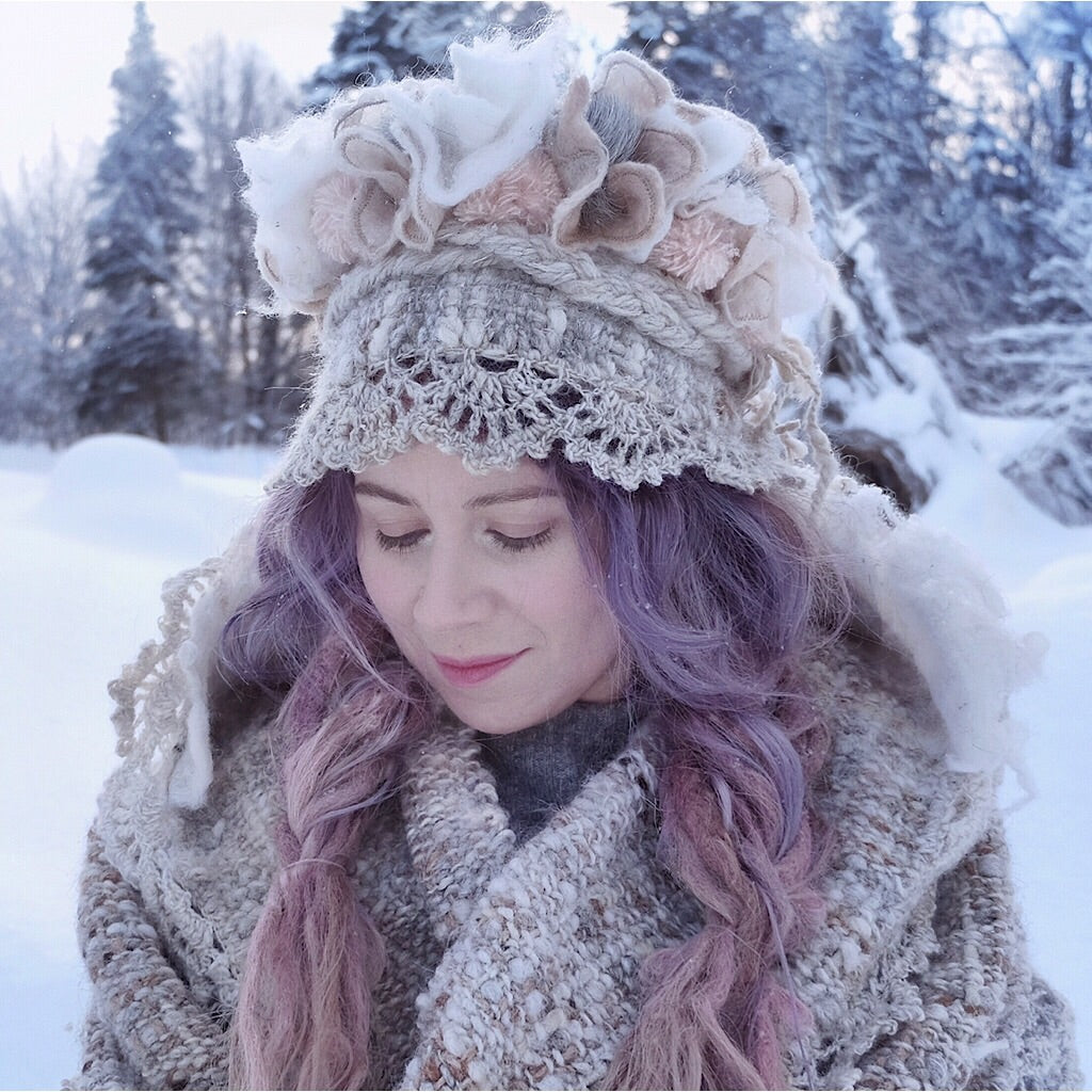 Winter fairy crown