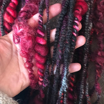 Burgundy art yarn 100g 33y - Mynoush