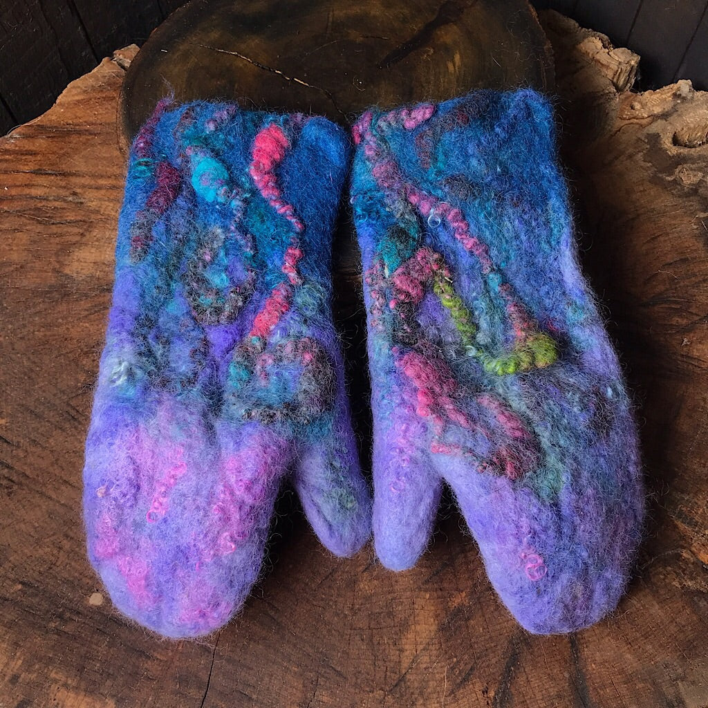 Felted mittens reserved for Geraldine