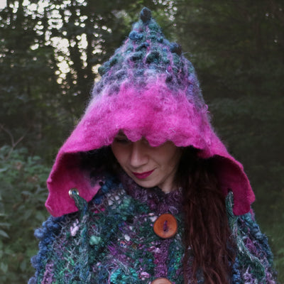 Wool hooded hat | capuche en laine - Mynoush