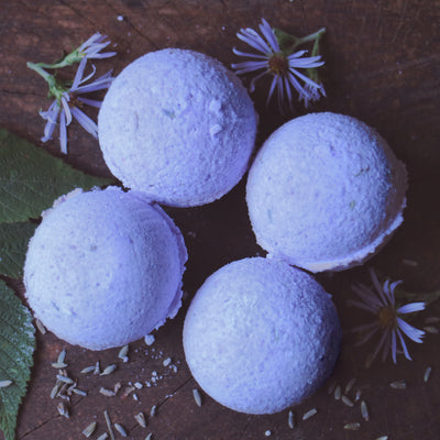 Lavender Bath Bombs - 1 bath Bomb - Mynoush