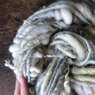 Natural white grey art yarn 100 grams - Mynoush