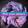 Custom Thick and thin yarn - Pick your colours