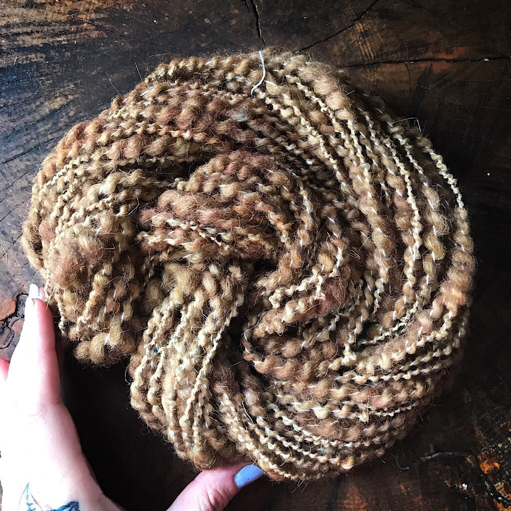 Walnut weaving yarn