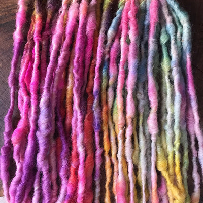 Rainbow shamallow Alpaca yarn