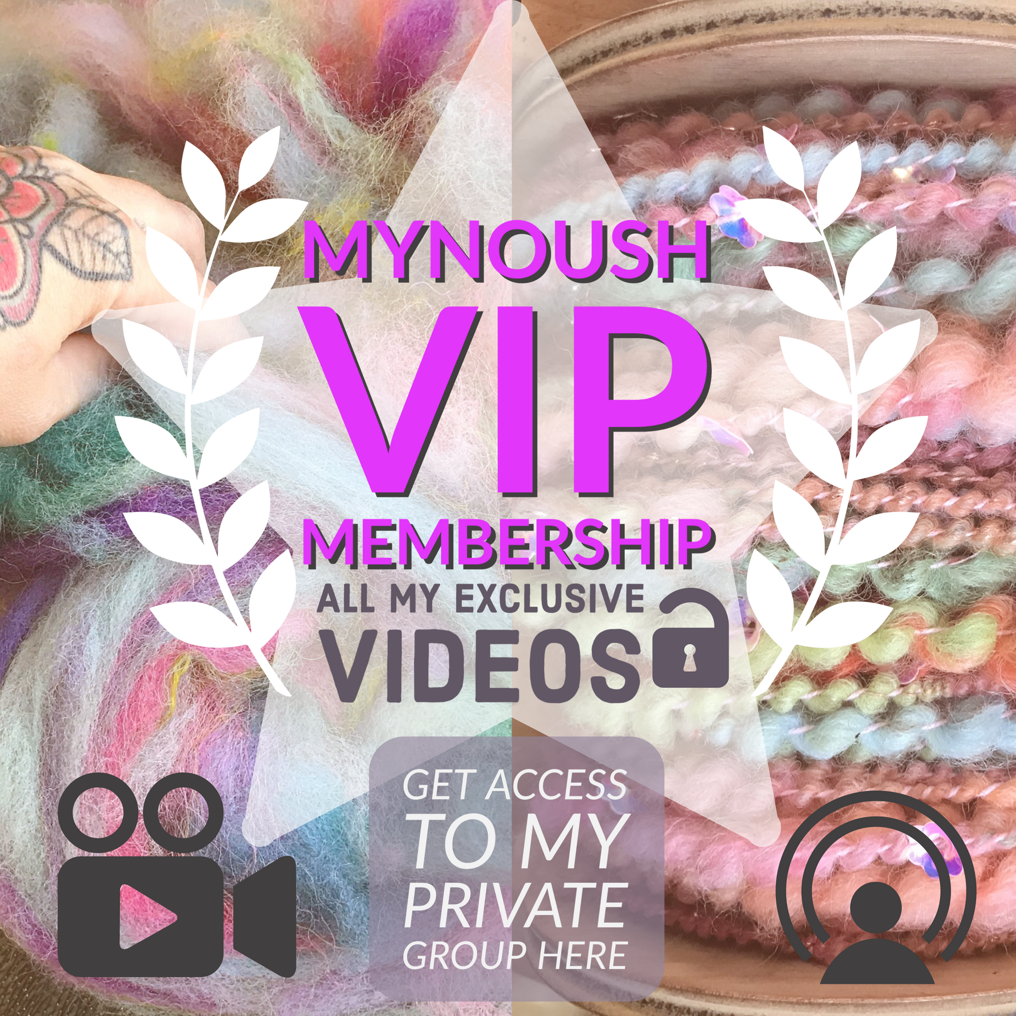 Monthly subscription to private facebook group - Mynoush