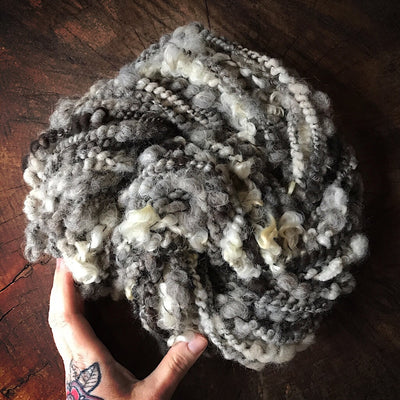 Nature Grey hand spun yarn