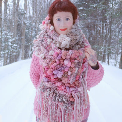 Giant Blush pink scarf