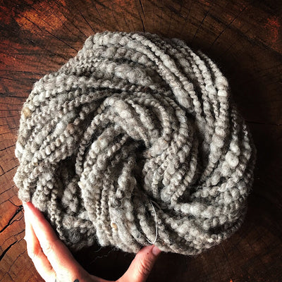 Eco wool hand spun yarn